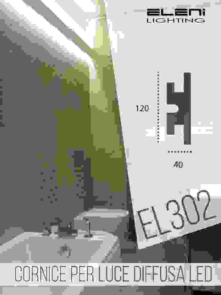 EL302 per l'illuminazione indiretta led di un bagno moderno di Eleni Lighting Moderno
