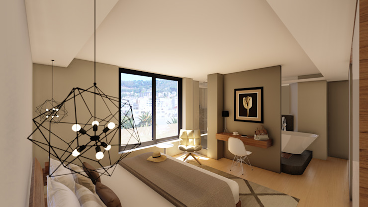 Apartment Renovation Modern style bedroom by Inline Spaces Pty Ltd Modern