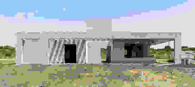 En obra Casas minimalistas de 1.61 Arquitectos Minimalista
