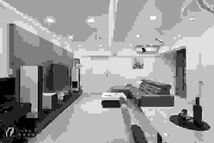 客廳 现代客厅設計點子、靈感 & 圖片 根據 元作空間設計 現代風