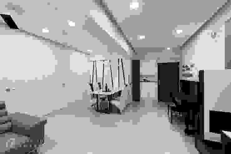 Ruang Makan Modern Oleh 元作空間設計 Modern