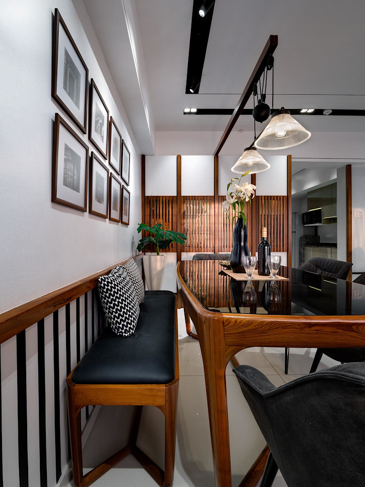 Linear Progression Modern dining room by Space It Up Modern