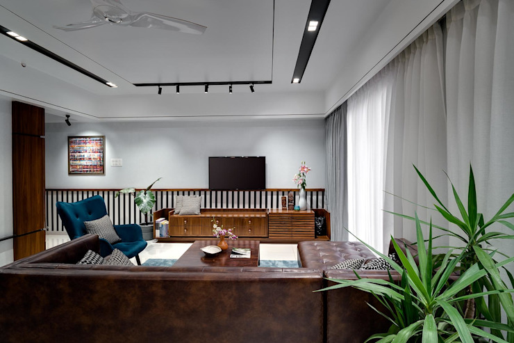 Linear Progression Modern living room by Space It Up Modern