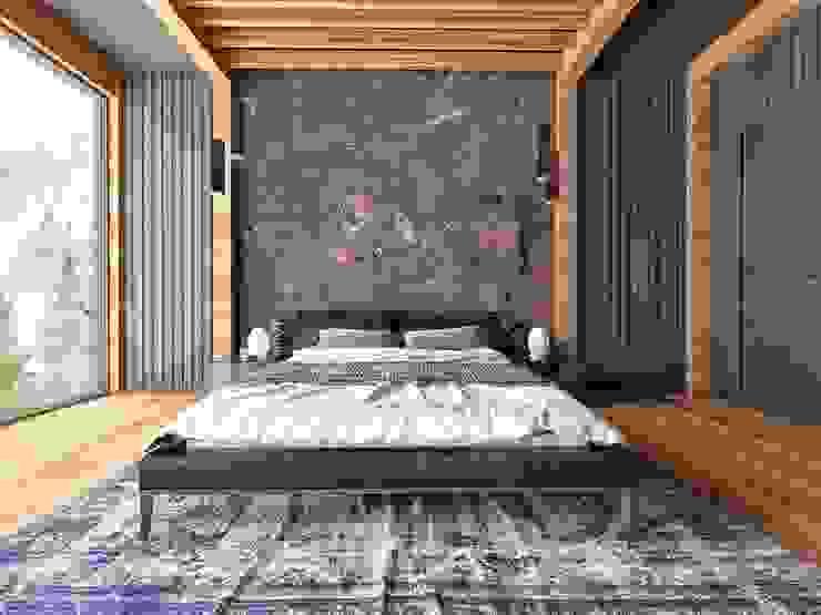 A.G VİLLA TASARIMI RIZVANOĞLU MİMARLİK MÜHENDİSLİK İNŞAAT A.Ş Minimalist Yatak Odası