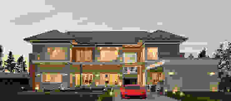 บ้านจำลอง 3D โดย บริษัท พี นัมเบอร์วัน ดีไซน์ แอนด์ คอนสตรัคชั่น จำกัด โมเดิร์น
