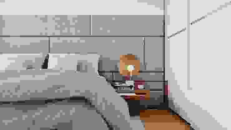 Suiten7 Industrial style bedroom Copper/Bronze/Brass White