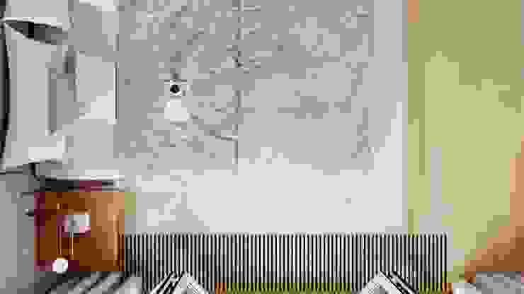 Suiten7 Industrial style bedroom Wood White