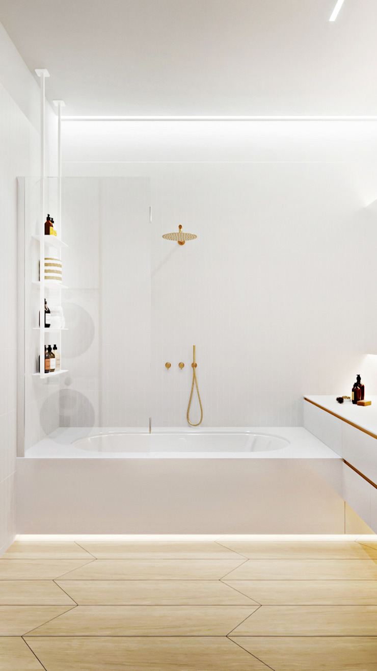 Suiten7 Industrial style bathroom Ceramic White