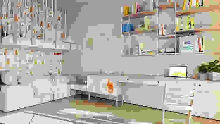 Suiten7 Nursery/kid's room Bricks White
