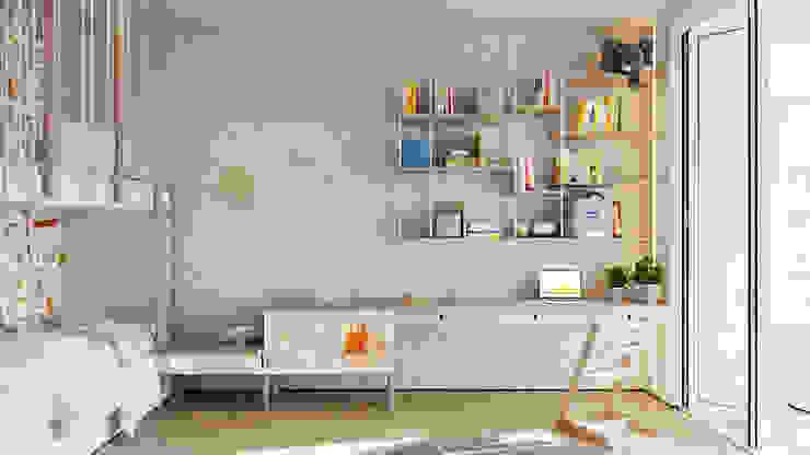 Suiten7 Nursery/kid's room Bricks Beige