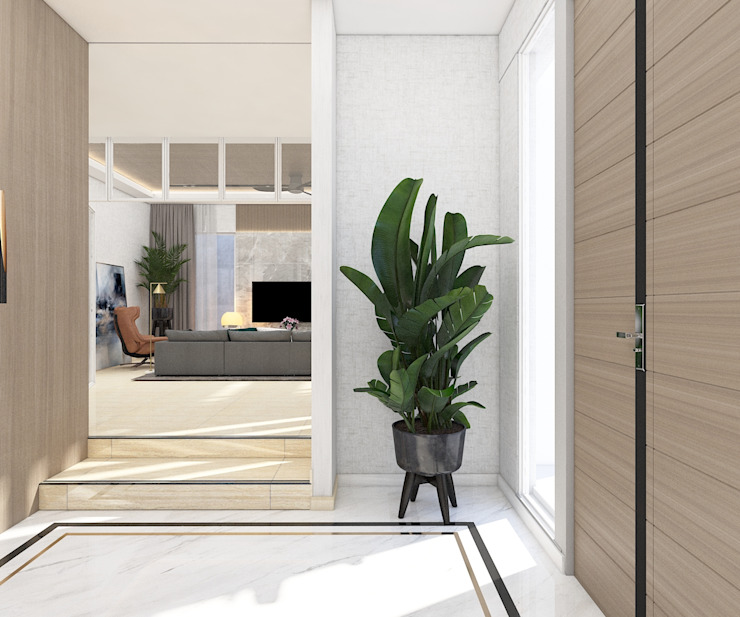 Ruang Masuk (Gateway ke Ruang Keluarga) Oleh PT. Mimo Interior Asia