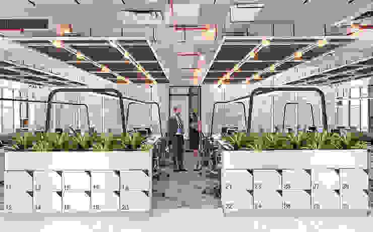 Office Area + Cabinet Locker Oleh PT. Mimo Interior Asia