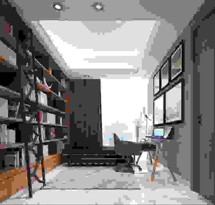 Perpustakaan dan Ruang Kerja 3 Oleh PT. Mimo Interior Asia