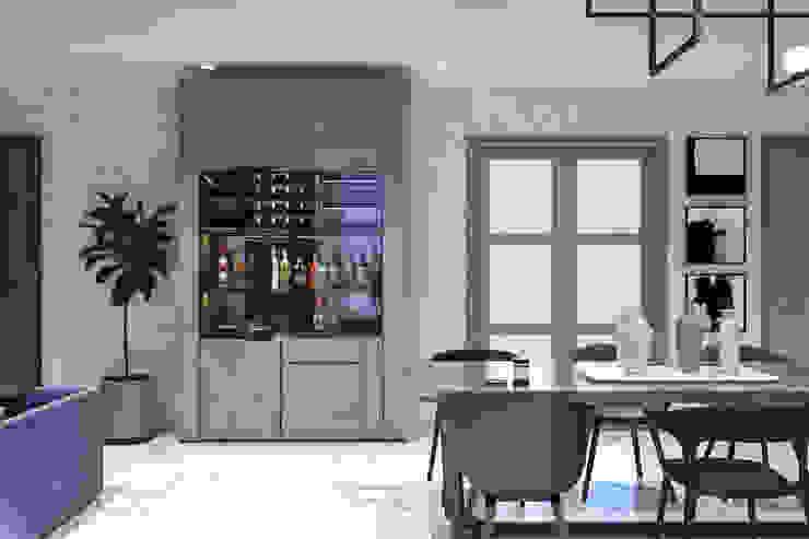 Ruang Makan dan Lemari Penyimpanan Wine Oleh PT. Mimo Interior Asia