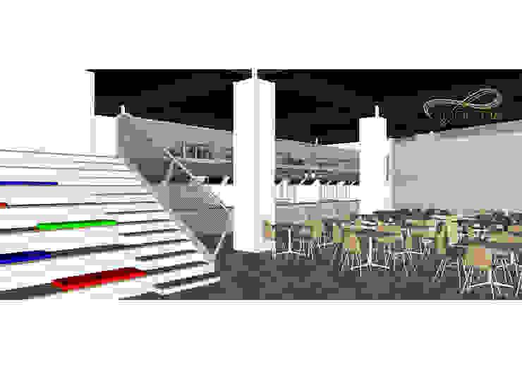 View 1 ( Area Makan dan Tangga Tribun ) Oleh Residencia