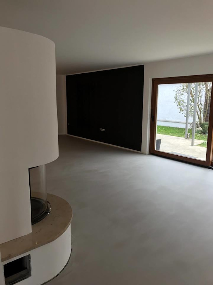 Keramostone Salas de estilo moderno Gris