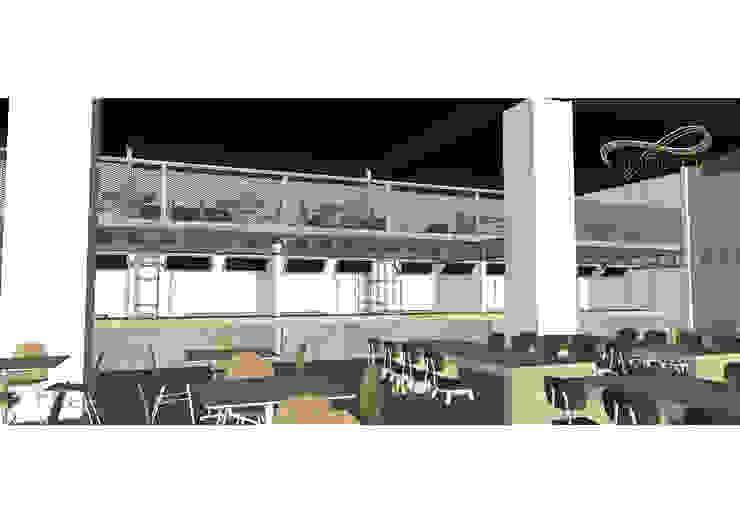 View 3 ( Retail dan Area Makan Mezanine ) Oleh Residencia