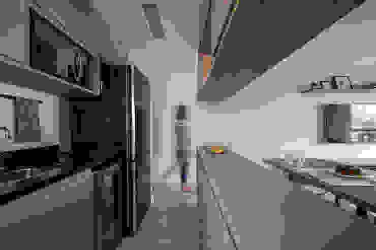 Cozinha Mirá Arquitetura Cozinhas pequenas MDF Cinza