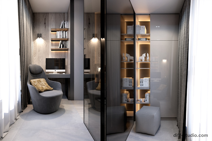 Modern functional apartment in Moscow от Diff.Studio Минимализм