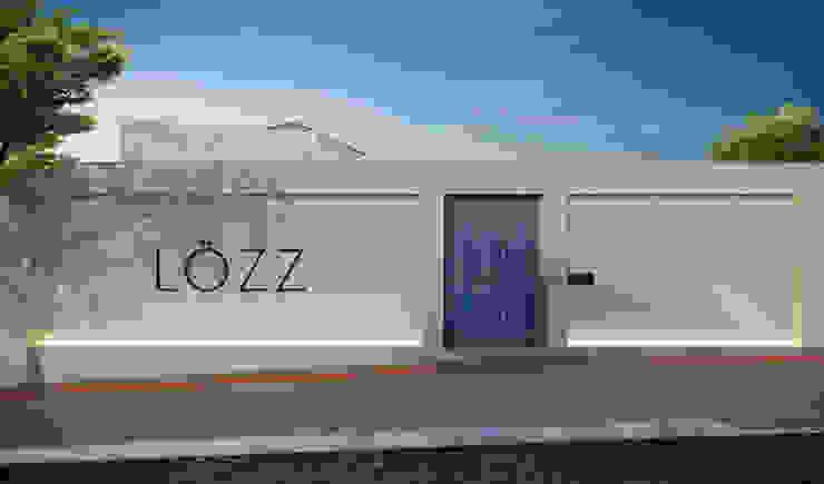 RAFE Arquitetura e Design Negozi & Locali commerciali in stile tropicale Legno Blu