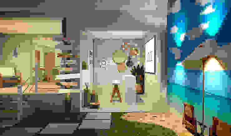 RAFE Arquitetura e Design Spazi commerciali in stile tropicale Legno Effetto legno