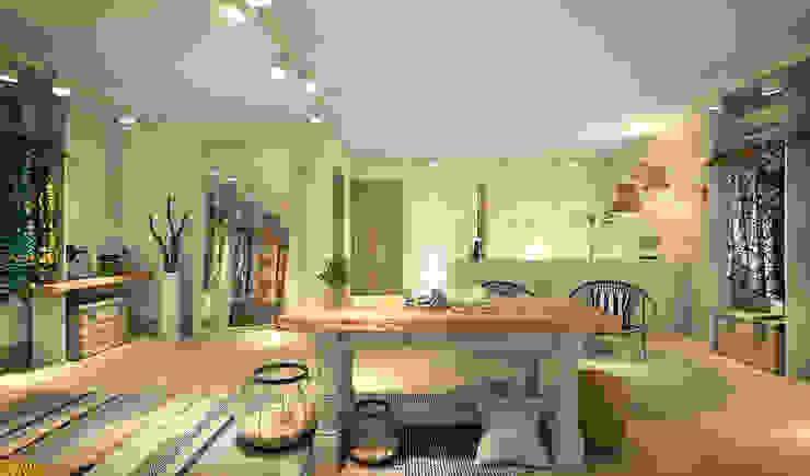 RAFE Arquitetura e Design Spazi commerciali in stile tropicale Legno massello Bianco