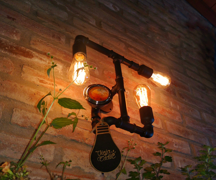 Lamparas Vintage Vieja Eddie Interior landscaping Iron/Steel Black