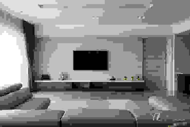 電視牆 根據 元作空間設計 現代風 大理石