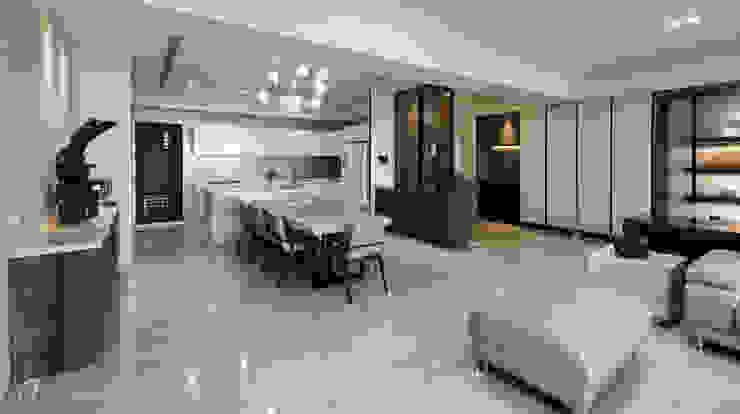 餐廳及玄關 現代風玄關、走廊與階梯 根據 元作空間設計 現代風