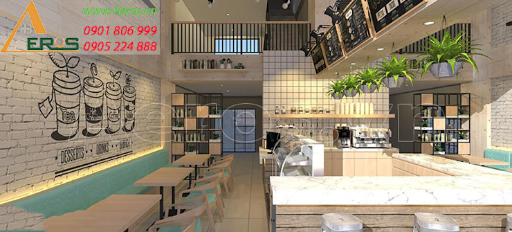 Thiet ke thi cong quan cafe Blue White – Quan 3 bởi xuongmocso1 Mộc mạc