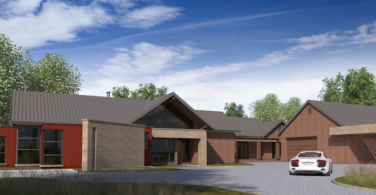 Residential Design Blue Saddle Ranches by Red Square Architectural Studio Country Bricks