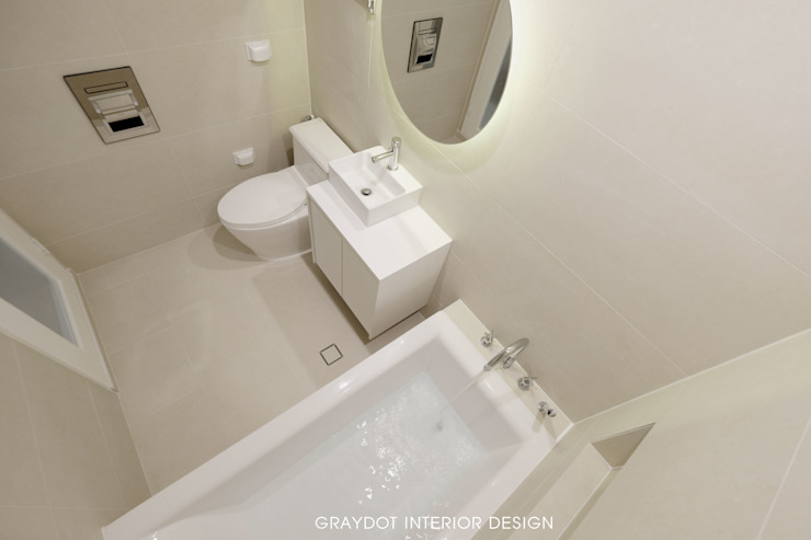 봇들마을 32평 미니멀리스트 욕실 by 그레이도트 미니멀