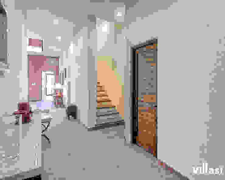Corredor Pasillos, vestíbulos y escaleras rústicos de VillaSi Construcciones Rústico