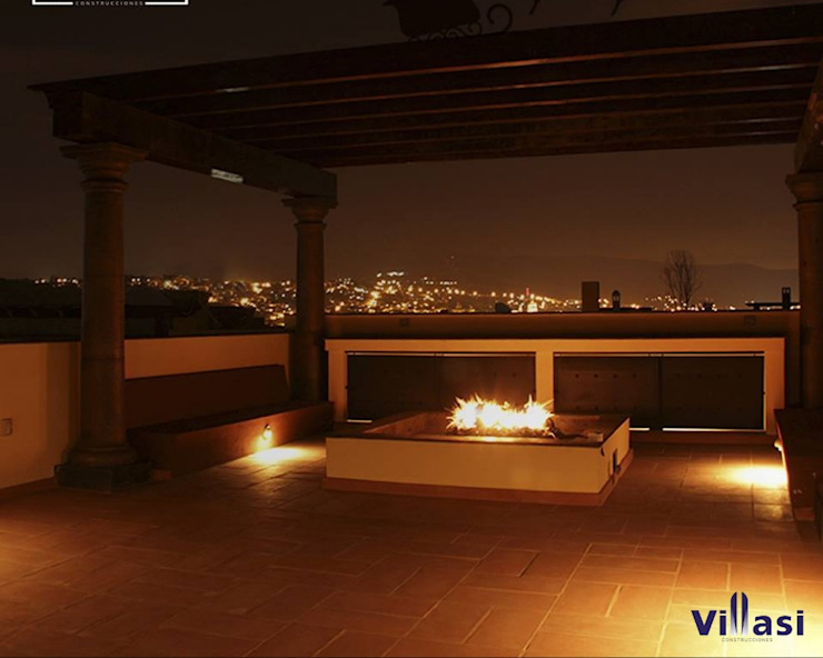 Rustic style balcony, veranda & terrace by VillaSi Construcciones Rustic