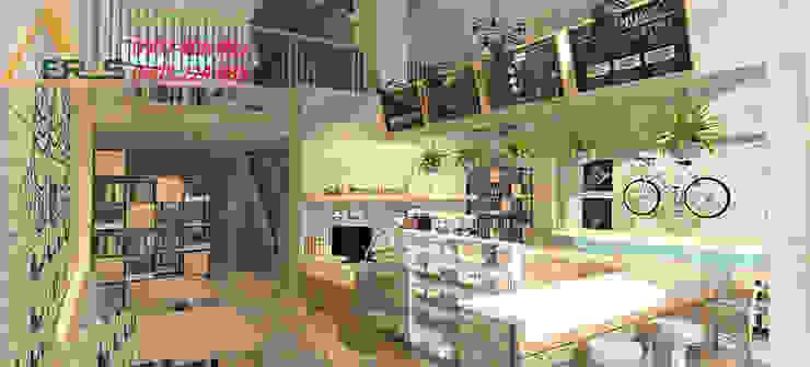Thiet ke thi ong quan cafe Blue White – Quan 3 bởi xuongmocso1 Bắc Âu