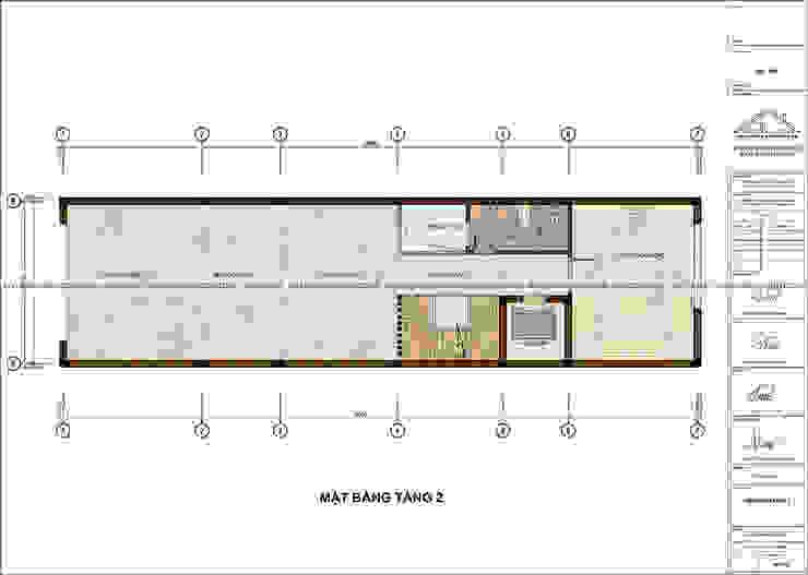 Thiết kế nhà phố tân cổ điển 5 tầng có thang máy bởi Công ty CP kiến trúc và xây dựng Eco Home