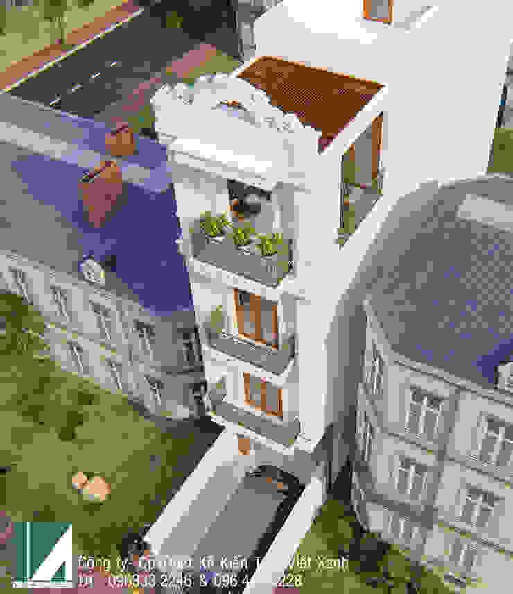 NHÀ PHỐ TÂN CỔ ĐIỂN 4 TẦNG – ANH THƯ bởi Kiến trúc Việt Xanh