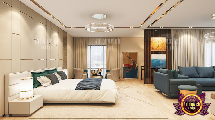 Neat Bedroom Interior by Luxury Antonovich Design