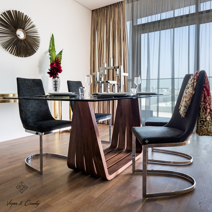 Modern dining room by ANGEL CERDA Modern Solid Wood Multicolored
