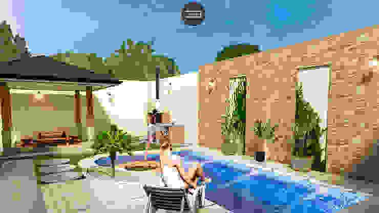 Vintark arquitectura Garden Pool
