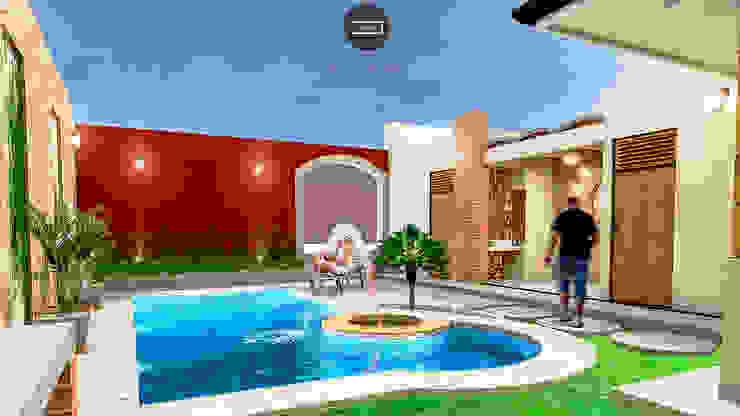 Vintark arquitectura Mediterranean style pool
