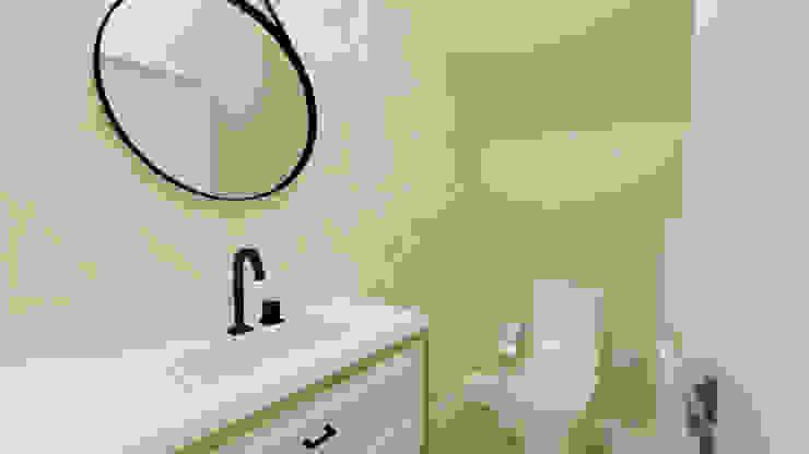 Phòng tắm phong cách kinh điển bởi Aline Mozzer Arquitetura Kinh điển MDF