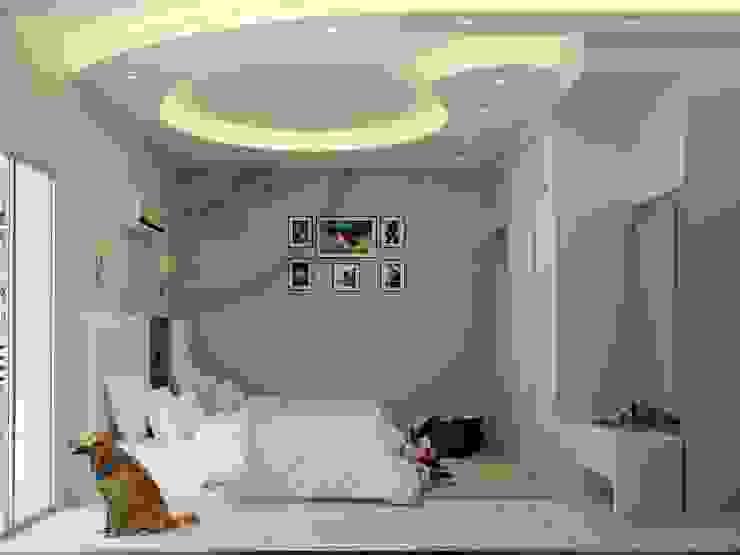 غرفة نوم : حديث  تنفيذ 4walls, حداثي
