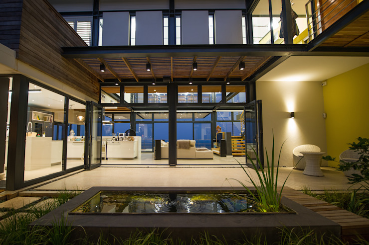 John Smillie Architects Modern Balkon, Veranda & Teras