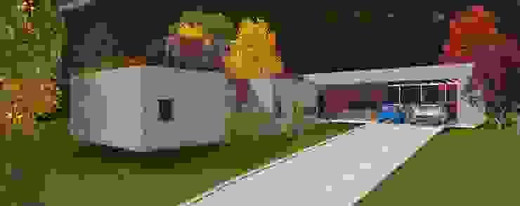 Vista desde aces ARQvision BIM Sustainable Architecture Casas de estilo escandinavo