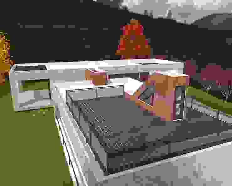 Vista de la Terraza ARQvision BIM Sustainable Architecture Casas de estilo escandinavo