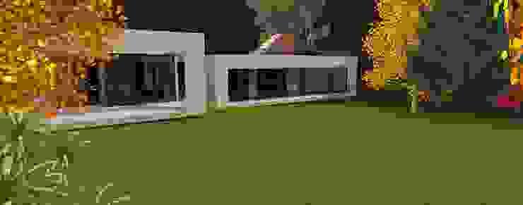 Vista desde el Jardín ARQvision BIM Sustainable Architecture Casas de estilo escandinavo