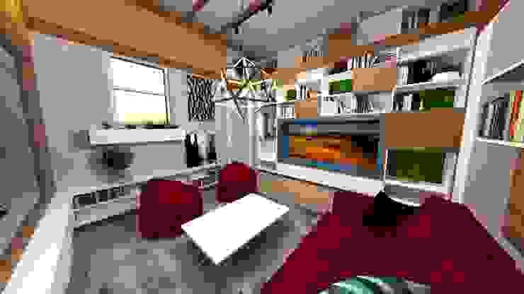 Moderne Wohnzimmer von Rodrigo León Palma Modern Holzwerkstoff Transparent
