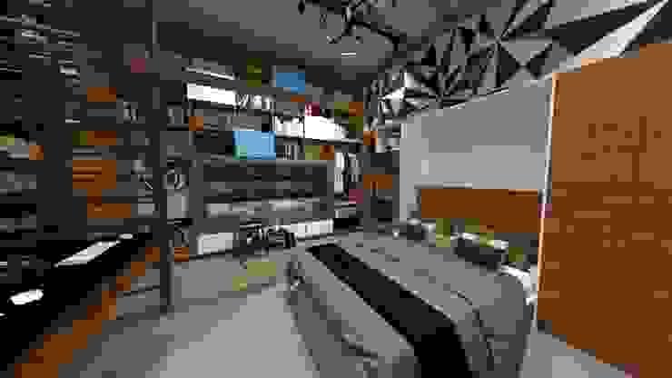 Dormitorios de Rodrigo León Palma Moderno Derivados de madera Transparente
