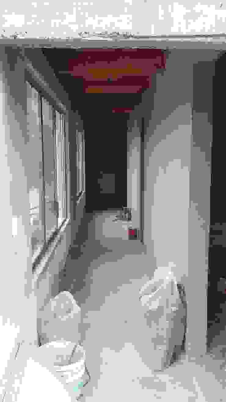 Prototype studio Modern Corridor, Hallway and Staircase